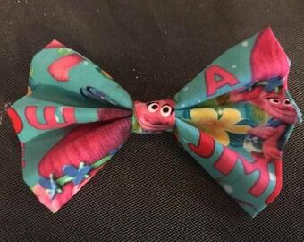 Fabric Bow: Trolls ( Poppy)