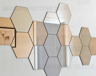 Hexagon Wall Decal Etsy