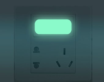 SaLe! Creative Switch Button Luminous Stickers For Kids Rooms Decorated Wall DIY Art Stickers Muraux