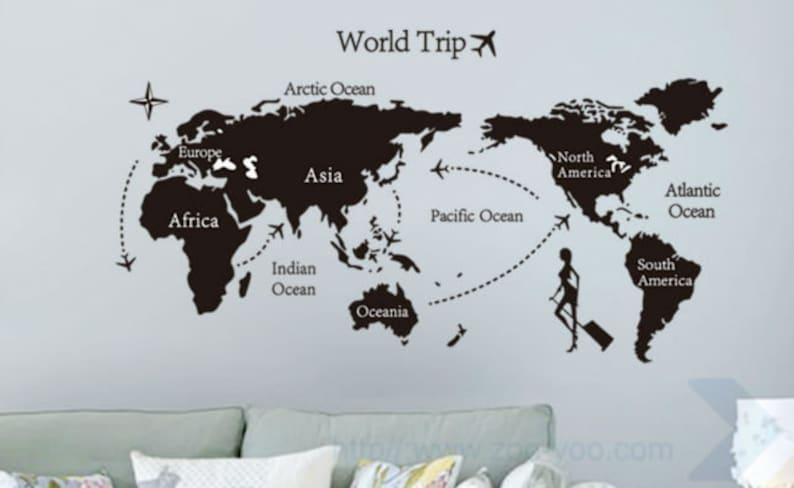 d1b176879a6 SaLe World map wall decal world map mural wall art kids