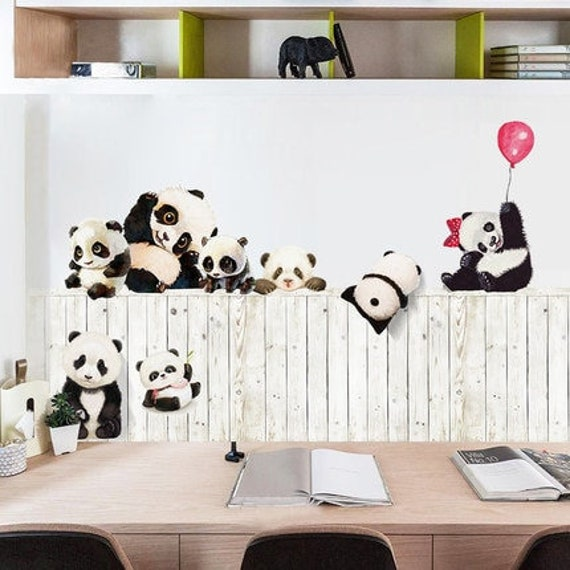 Lovely Panda 3d Self Adhesive Wallpaper Kids Wall Sticker Animal Living Room Baby Room Nursery Decor Poster