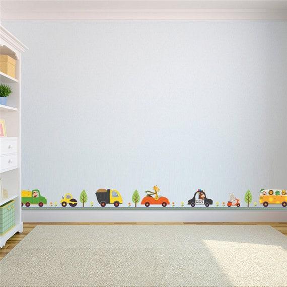 Sale Monkey Giraffe Animals Car Wall Stickers Children Boys Nursey Bedroom Carton Diy Wall Decals Decor Mural Kids Gift