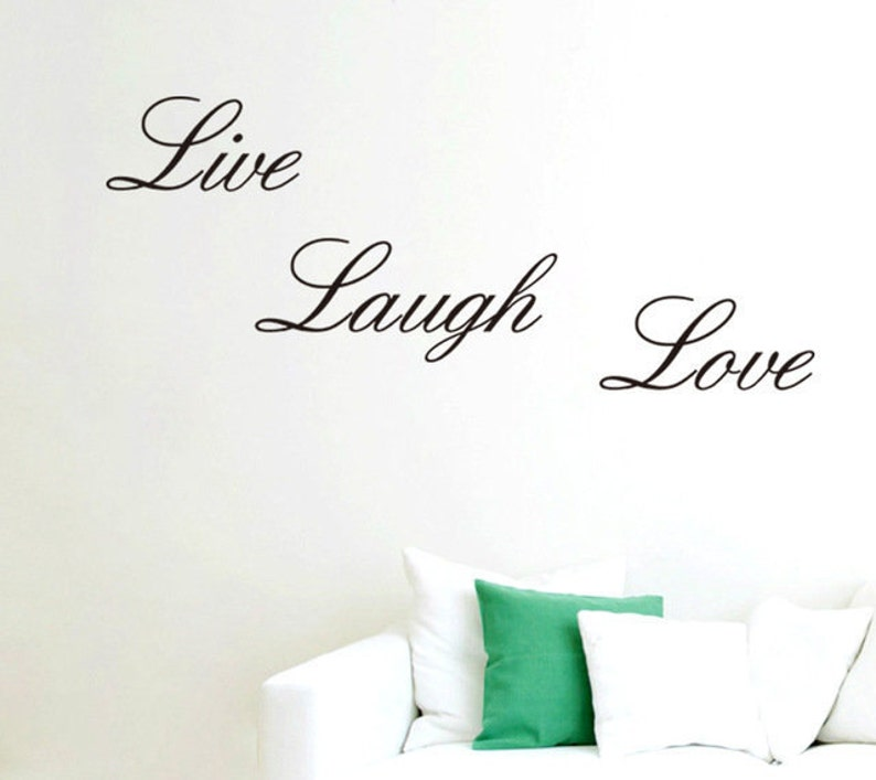 Sale Home Decor Wall Stickers Live Love Laugh Letters Etsy