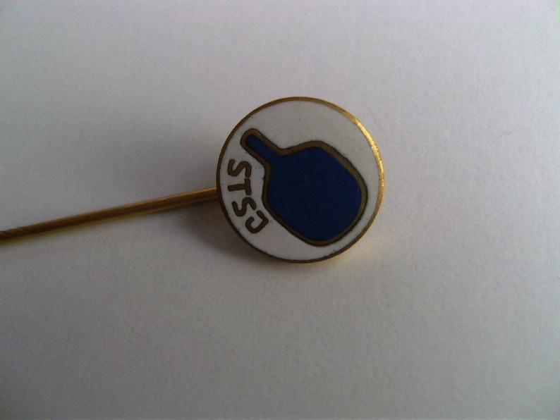 Tennis Federation of Yugoslavia Vintage  small  Pin Badge Bertoni Milano