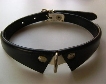 Dog SHIRT COLLARS-natural leather