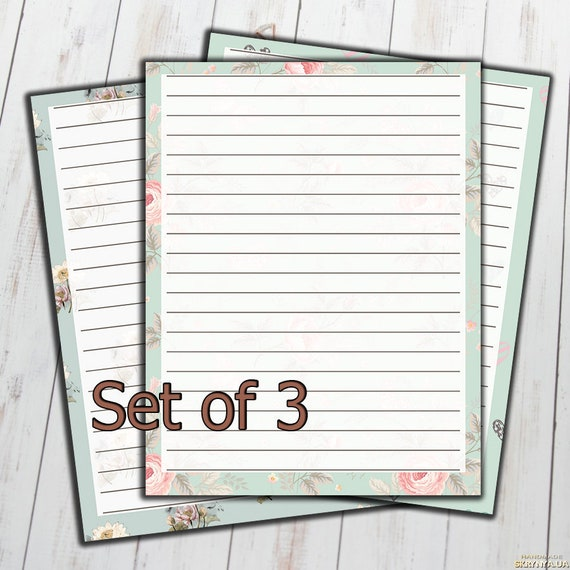 Lined Paper For Letter Writing from i.etsystatic.com