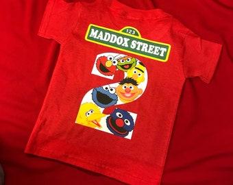 Elmo Birthday Shirt With Number