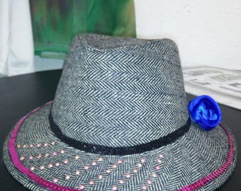 Remade trilby hat