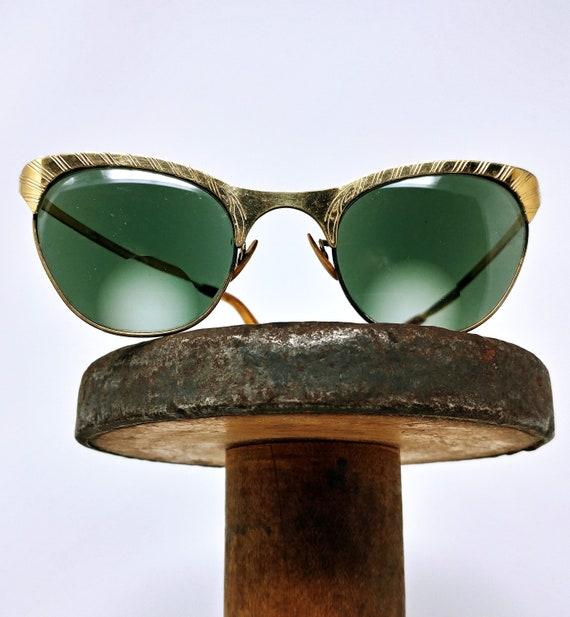 Vintage 1950s Cat Eye Prescription SunGlasses 1950