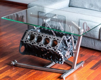 Table basse moteur etsy - Table basse moteur voiture ...