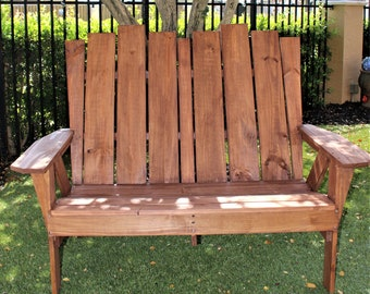 Handmade Adirondack Loveseat. Unfinished Kit or Partially Assembled.