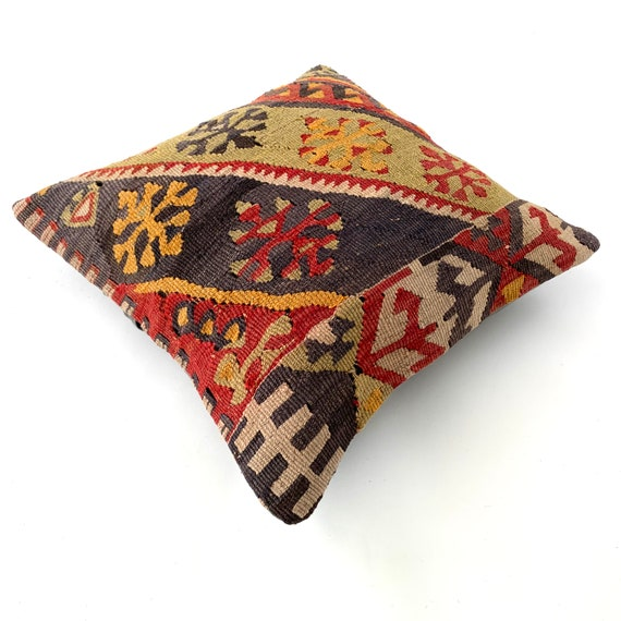 Etsy Cuscini.Kilim Pillow Cover 18x18 Moroccan Pillow Moroccan Cushion Etsy