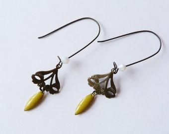 Dangle earrings art nouveau