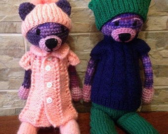 Knitted handmade toys