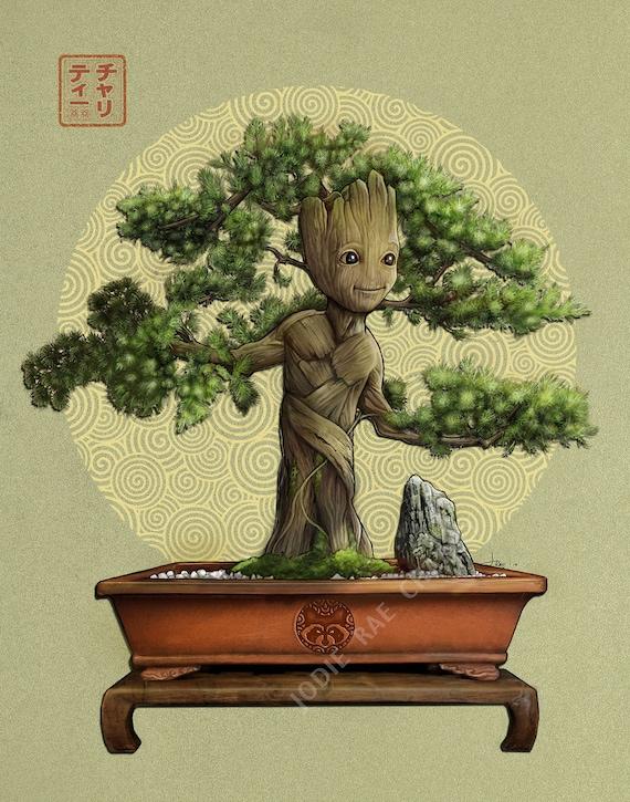 Baby Groot Bonsai Etsy