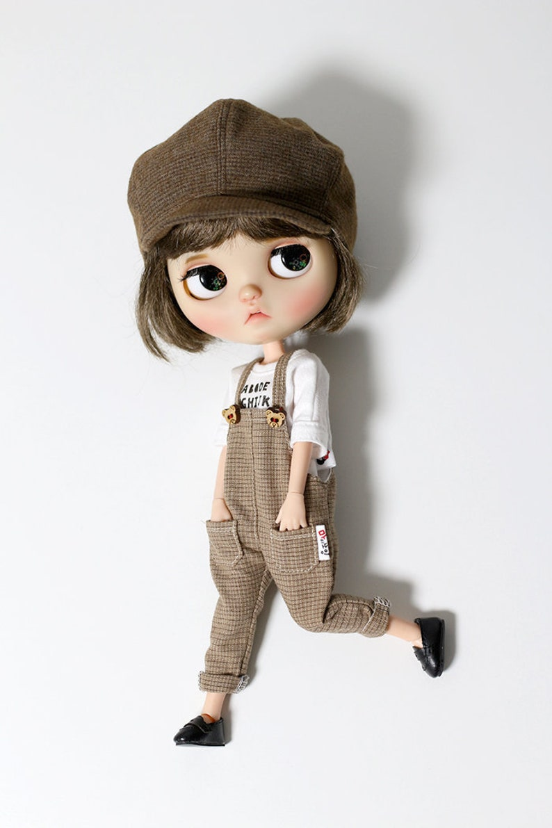 Blythe clothes  Brown Cap image 0