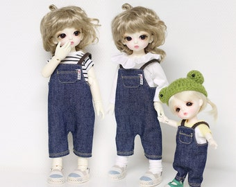 Overalls  for yosd and 16cm Tiny BJD: PukiFee Lati Yellow Tiny Delf & similar sized dolls