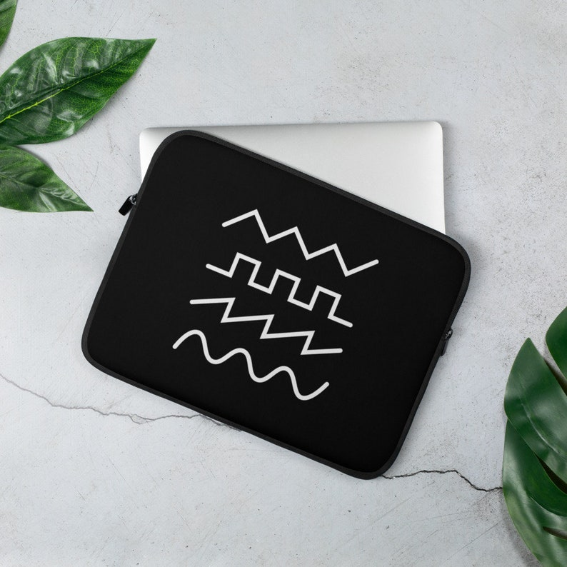 Waveform Laptop Case or Synth Bag Eurorack Patch Cable Holder Modular Synthesizer Small Synth Travel Bag Black