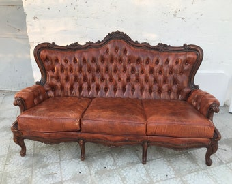 Vintage Chesterfield Sofa | Etsy