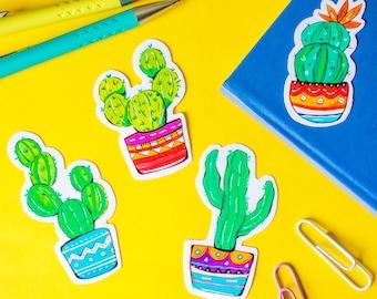 Colourful Cactus Succulent Vinyl Sticker Pack