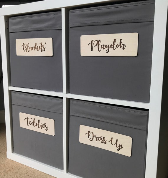 Tags ANY FONT Wooden Kallax Storage Signs Ikea Labels Nursery Decor