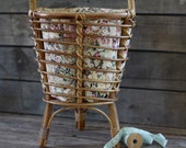 French antique sewing worker basket with handle 50 39 s French braided basket Braided basket Sewing basket Antique rattan item basket