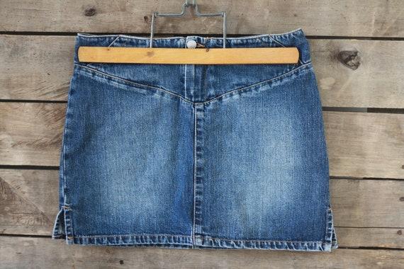 ACQUAVERDE denim skirt. Skirt jean. Blue jeans. Fr