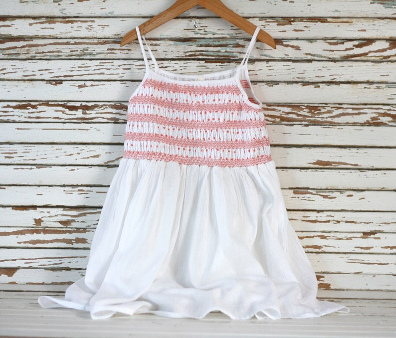 Dress 10 years Clothes 9 years Smock dress girl French girl blouse Indian shirt French white dress Bohemian blouse 9-10 years