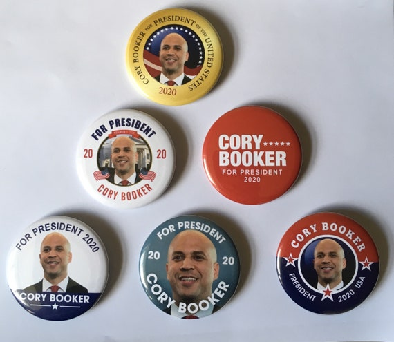 Cory Booker For President 2020 Set Of 10 Buttons