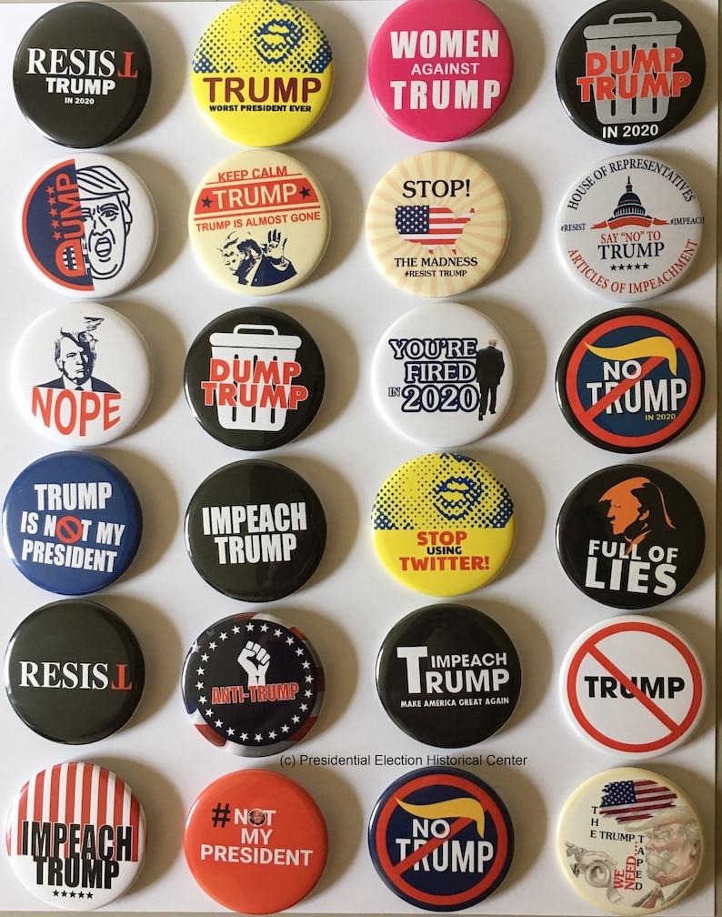 Anti Trump Campaign Button Collectors Set of 24  c704ea1af80