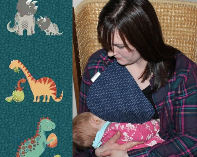 Breastfeeding/nursing cover, baby shower, gift idea - Dino baby