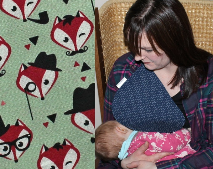 Breastfeeding/nursing cover, baby shower, gift idea - Fantastic Foxes