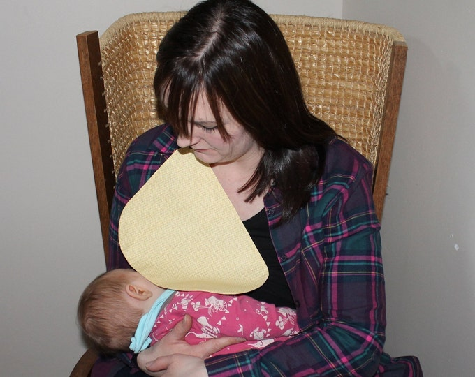 Breastfeeding/nursing cover, baby shower, gift idea - Yellow