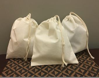 7b3e3e0838 6x8 inches Cotton single drawstring Muslin Bags (NATURAL COLOR)