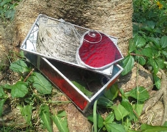 Heart Box ~ made by Stained Glass