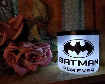 Batman Inspired handmade novelty battery operated jar nightlight