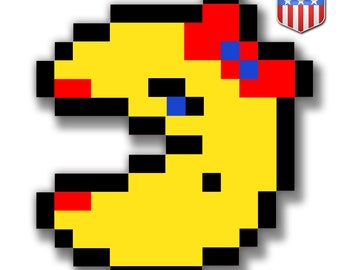 Pacman Sticker Etsy