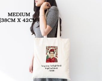645b8707c504 ECO FRIENDLY Personalised Tote Bag - Frida Kahlo Tote Bag - Frida Kahlo Bag  - Tote Bag