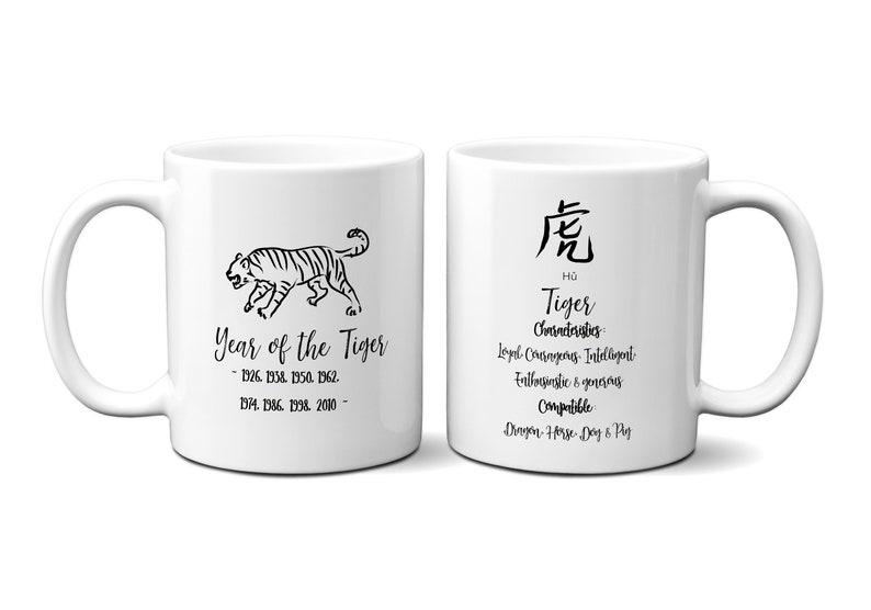 Du Zodiaque Tasse Année Sa Tigre Mug Astrologie Cadeaux Anniversaire Chinois Cadeau Lui Des Pour CWrdxeBo