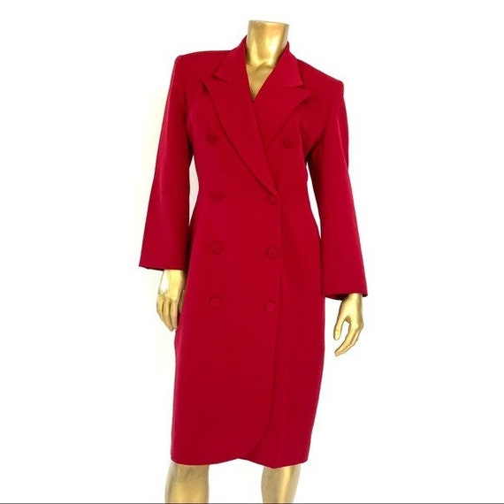 VINTAGE PORTS INTERNATIONAL red blazer dress size
