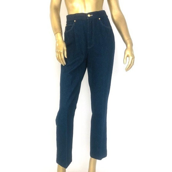 Vintage ESCADA HIGH-WAISTED straight leg jeans 38/