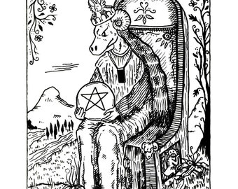 Queen of Pentacles (Print)