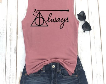 Always Tank Top,Harry Potter Shirt, Harry Potter Always,Always tshirt Harry Potter, Bridesmaid, Bachelorette