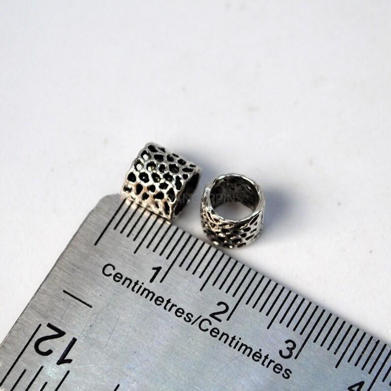 alloy rings charms dreadlocks 25 Small webbed hair  braid  beard beads