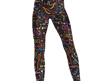 Rainbow math equations Leggings - Small to 3XL - Maths, mathematics, science, scientist