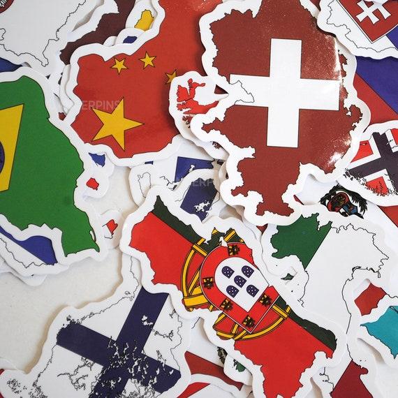 International Flag Various Sizes BOSNIA AND HERZEGOVINA FLAG VINYL STICKER