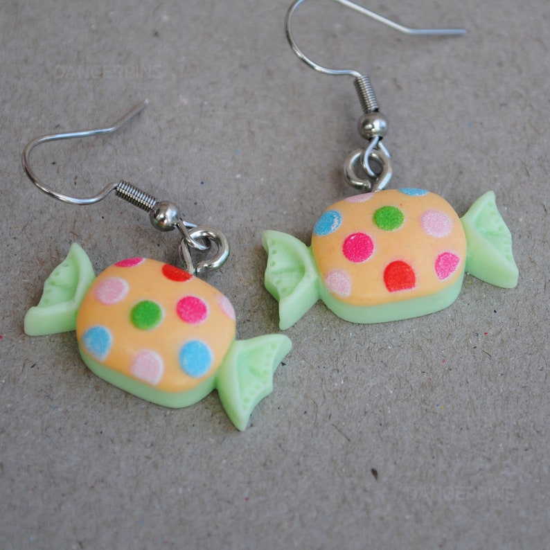 Dotted Candy sweets earrings