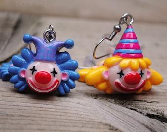 Awful creepy Clowns earrings - Weirdos only
