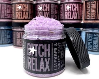 Bath Salts, Epsom Bath Salts,  Lavender Mint Bath Salts, Relaxing Bath Salts