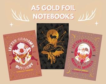 Hannibal A5 Gold Foil Notebooks - Sketchbooks